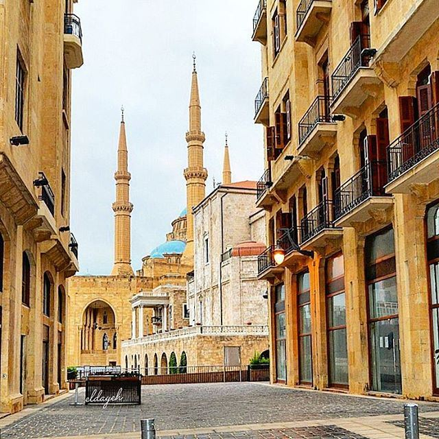downtownbeirut morningpost photography oldbuilding mosque shop ...