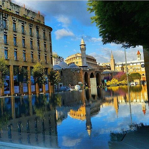 Goodmorning beirut❤❤ hellospring beirutdowntown morningwalk reflection...