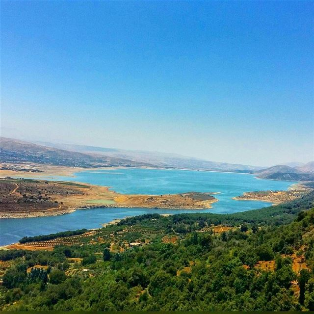 The one and only qaraoun lake.. thank u for the abundant water this year ...