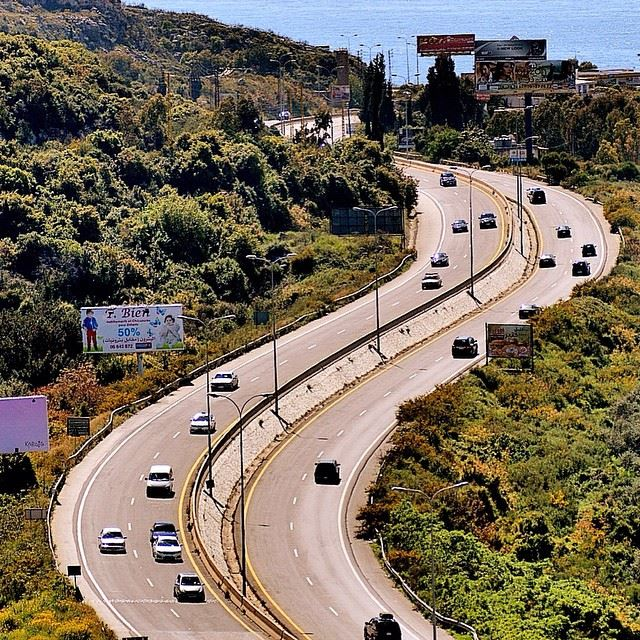 The sexy road of batroun😃 notraffic road cars tress greenleaves nature...