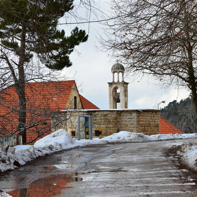 ehden liveloveehden RoyALKhouryPhotography snow mountains church ... (Ehden, Lebanon)
