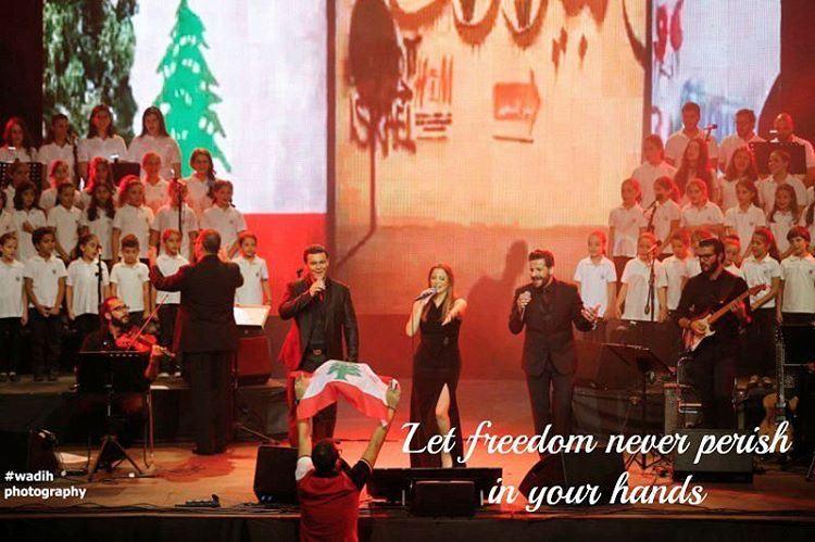 "throwback to taniakassis concert at beirutholidays 2016 me raising the... (Biel ""Beirut Waterfront"")"