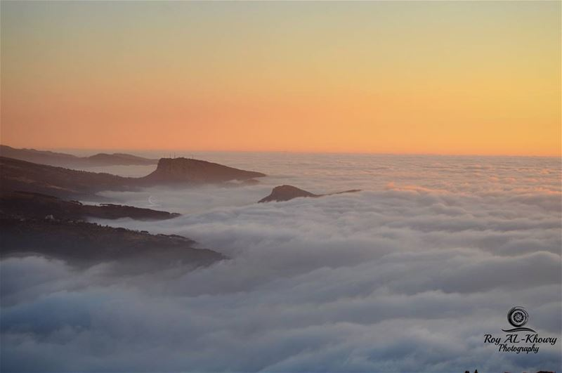 Mountains island in a sea of clouds RoyALKhouryPhotography sunset ...