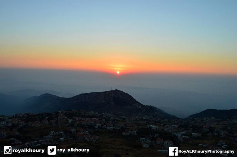 sunset from ehden few days ago liveloveehden livelovelebanon ... (Saydet El Hosn - Ehden)