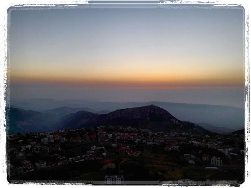 Yesterday sunset from ehden ♡ eden liveloveehden livelovelebanon ... (Saydet Al Hossen Ehden)