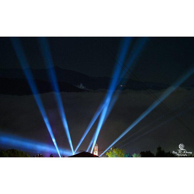 ehden night lighting summernight liveloveehden... (Ehden, Lebanon)