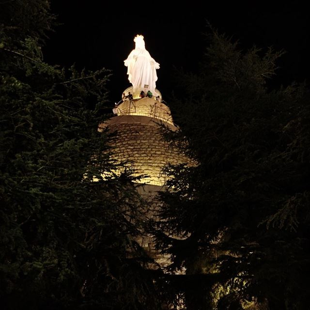 Holy Virgin Lady Harissa lightupmylife thelight faith prayers ... (Our Lady of Lebanon)