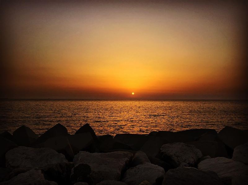 sunset beach sea romanticmood summer breeze livelovelebanon ...