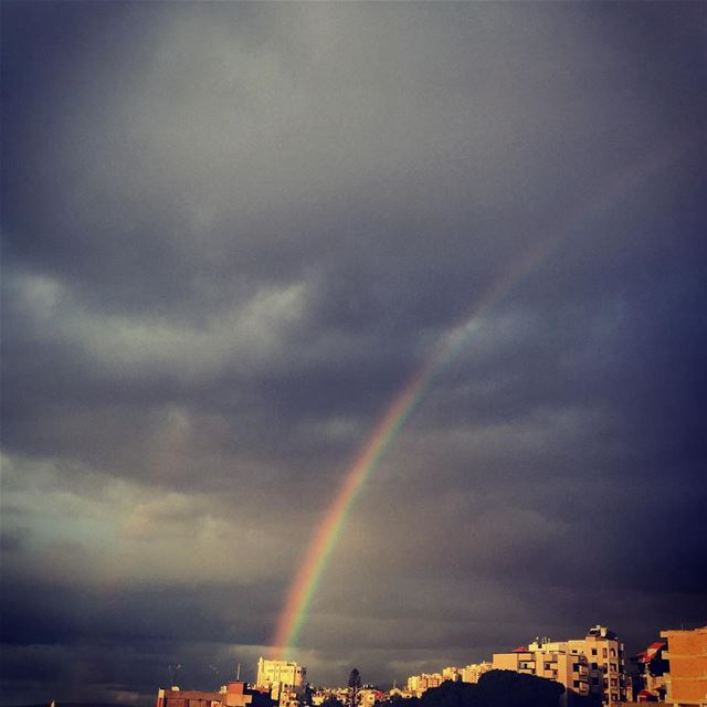 nature cloudy sky rainbow Beirut Lebanon...
