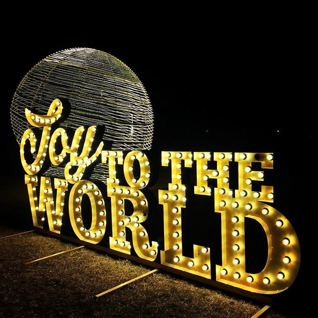 joy world Christmas spirit lights decoration Byblos Lebanon...