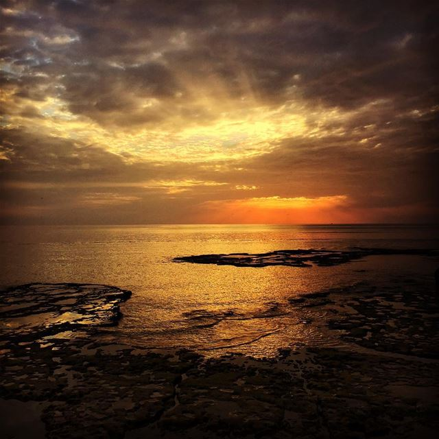 my sea my sunset my country my Lebanon sunset clouds ...