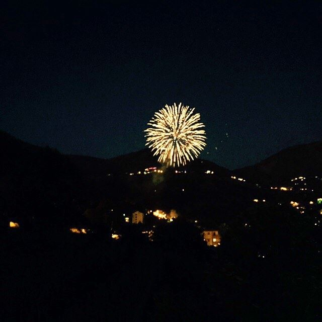 fireworks mountain fun family friends Faraya Lebanon...