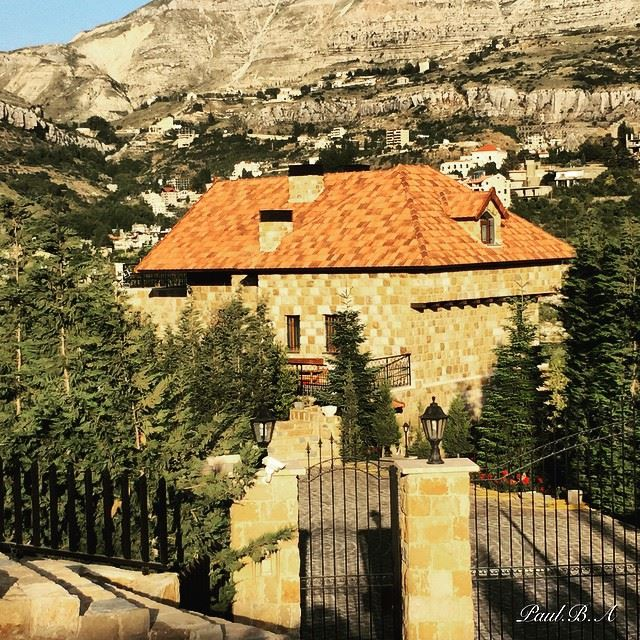 nature mountain village house Faraya Lebanon...