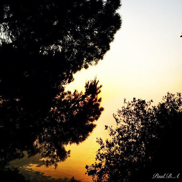 nature sunset sea view Harissa Lebanon...