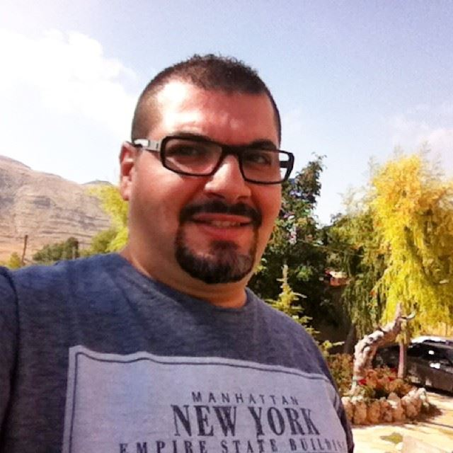me myself selfie new look haircut spicky nature mountain Faraya Lebanon...