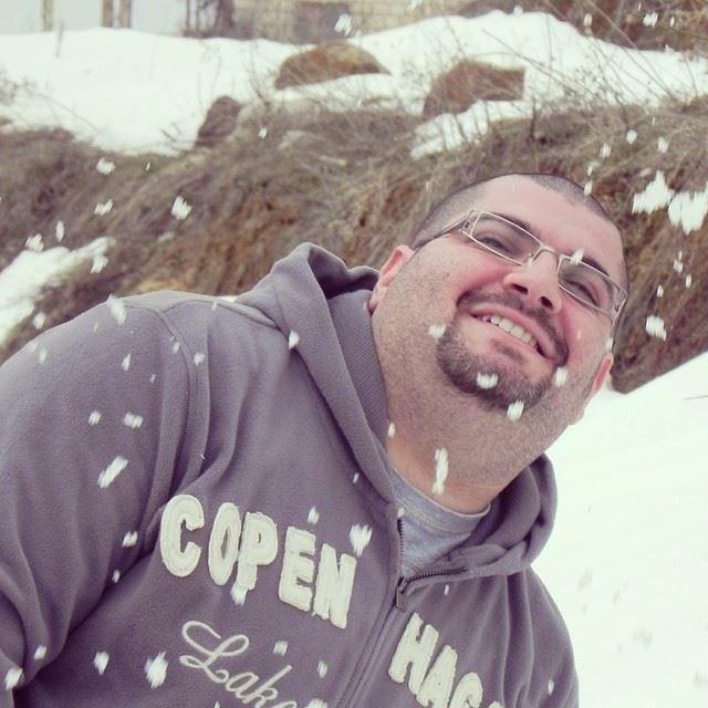 winter snow white Faraya Lebanon...