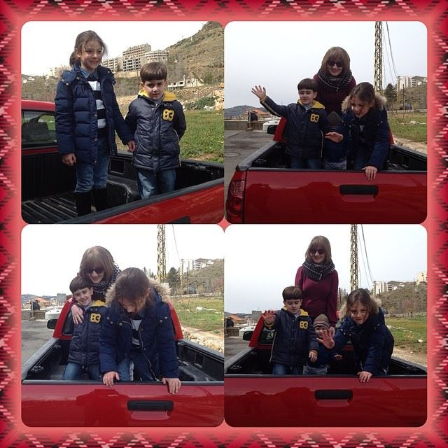 kids truck enjoying faraya Lebanon...