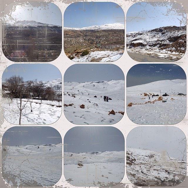 faraya kfardebian white snow lovely day great weather Lebanon a day to...
