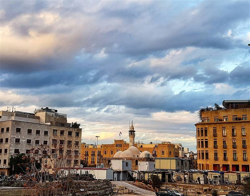 Beautiful beirut❤❤❤ sky clouds snapshot downtownbeirut photography ... (Downtown, Beirut, Lebanon)