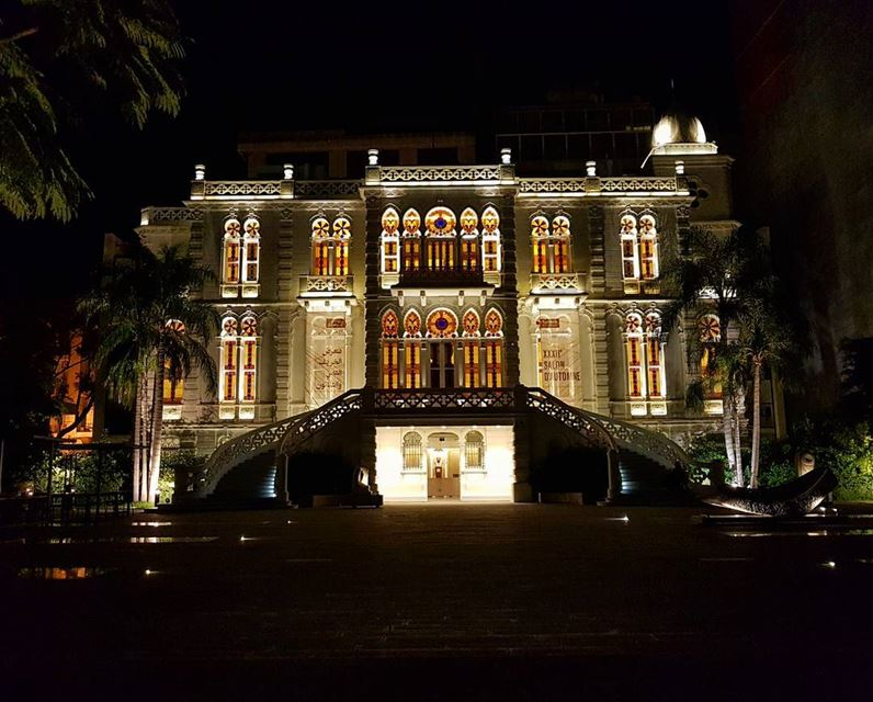 Cold evening igers❤😙 nofilter museum architecture heritage lighting ... (Sursock)
