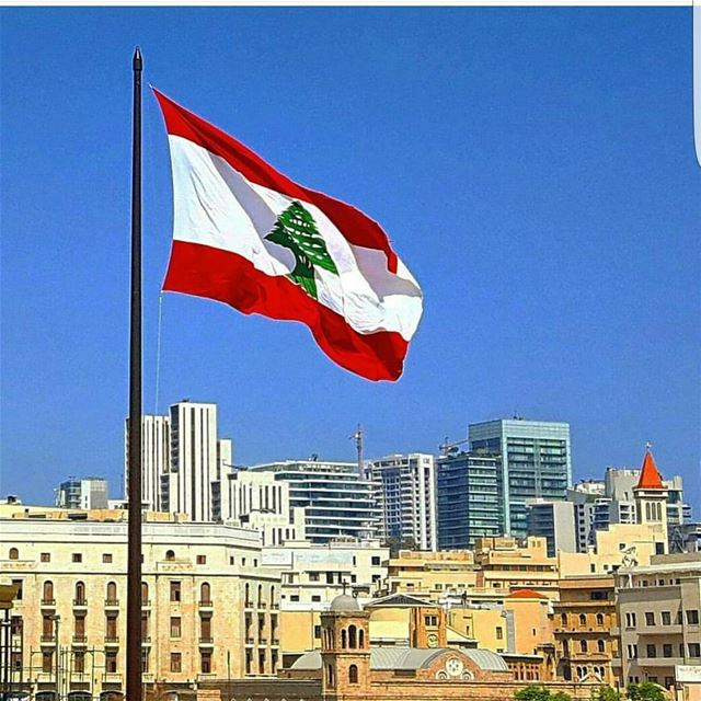 Goodmorning LEBANON❤Happy independence day❤ morningpost patriotism ... (Beirut Down Town)
