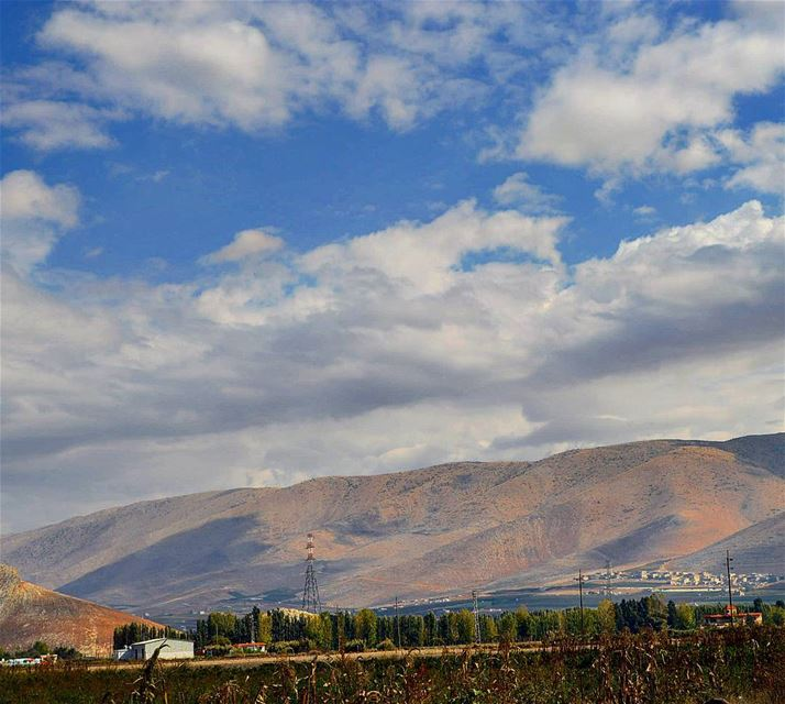 Goodmorning taken frm the land of bekaa mountains  clouds ...