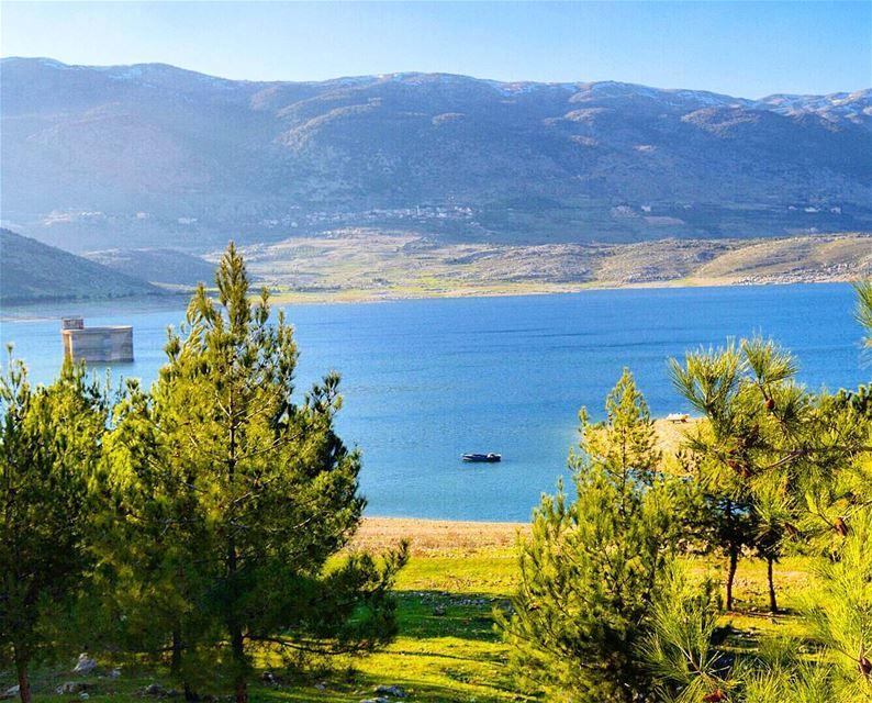 Lake qaraoun lake reservoir waterdam beautifulview beautifulday ...