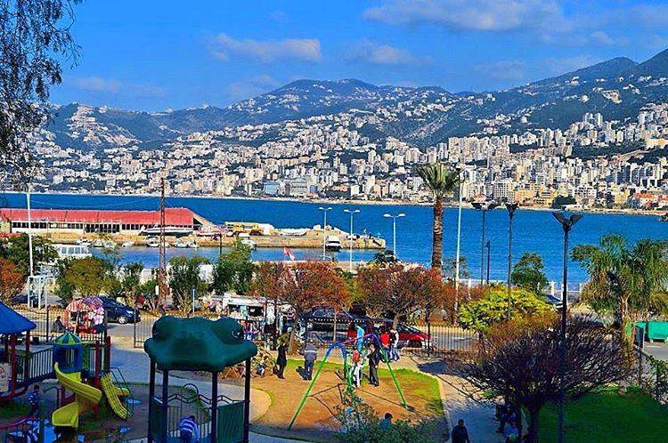 tb  beautiful  jounieh  park  mediterranean  sea jouniehbay  houses ...