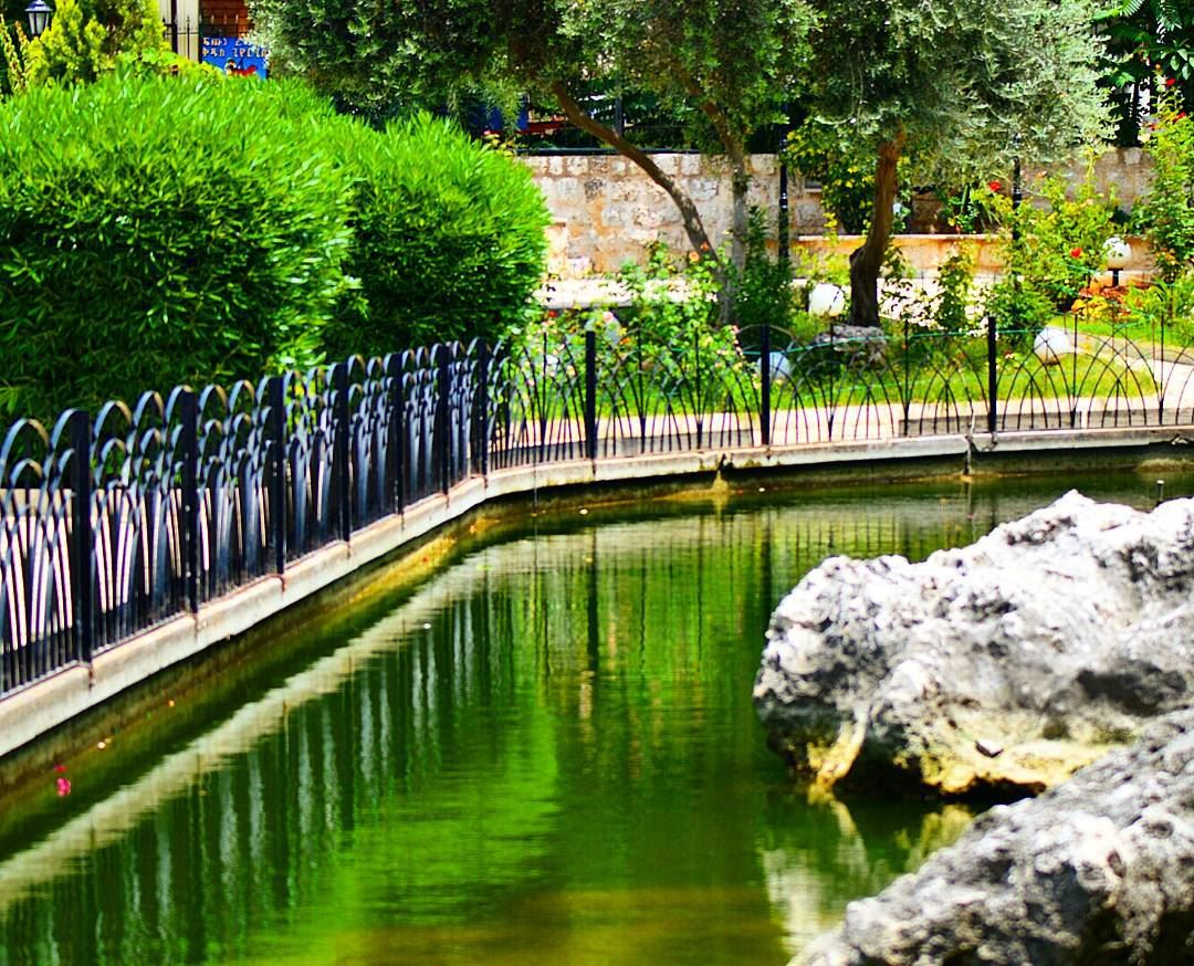 Somewhere in jounieh livelovejounieh garden artificialpond landscape ...