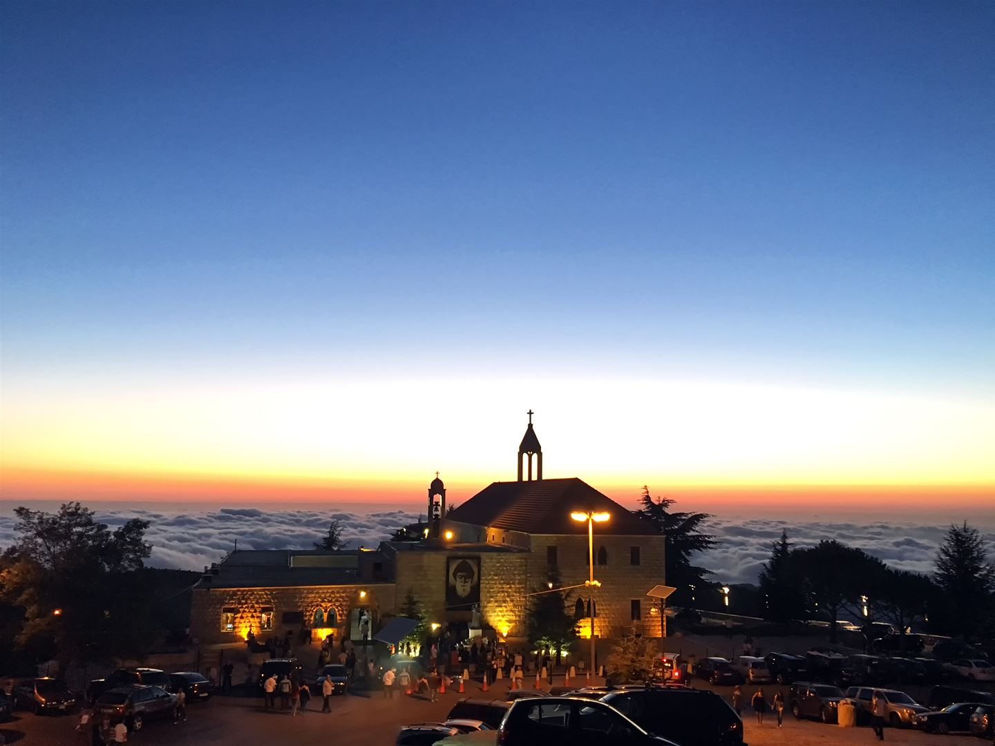 Saint Charbel Annaya Above the Clouds at Sunset