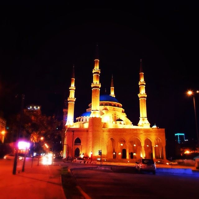 beirut downtownbeirut  mosque  nightview  iphoneonly  allaboutlebanon ...