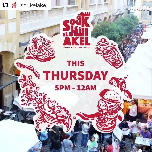 @soukelakelIt's happening tomorrow! SoukelAkel streetfoodthursday ...