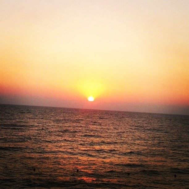 great sunday sunset dbayeh Lebanon...