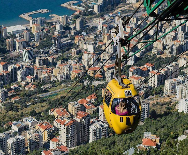 LEBANON 🇱🇧By @series_of_tee AboveBeirut Jounieh Harissa Beirut ... (Telefrique Jounieh)