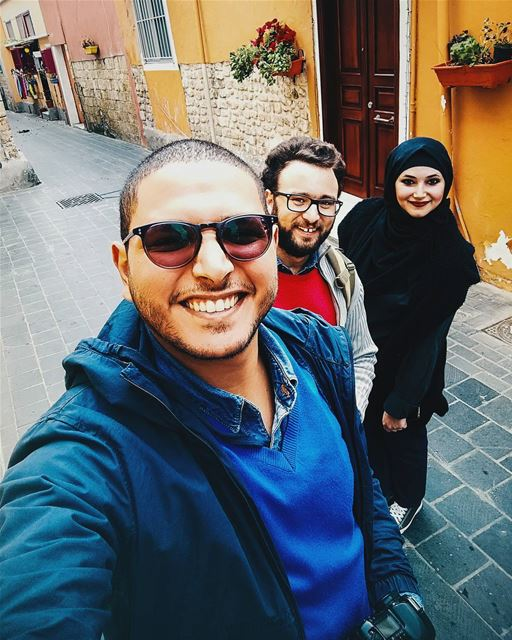 Morning 📷 Tyre sour Selfie Friends Old Town Colors Phoenicia ... (Tyre, Lebanon)