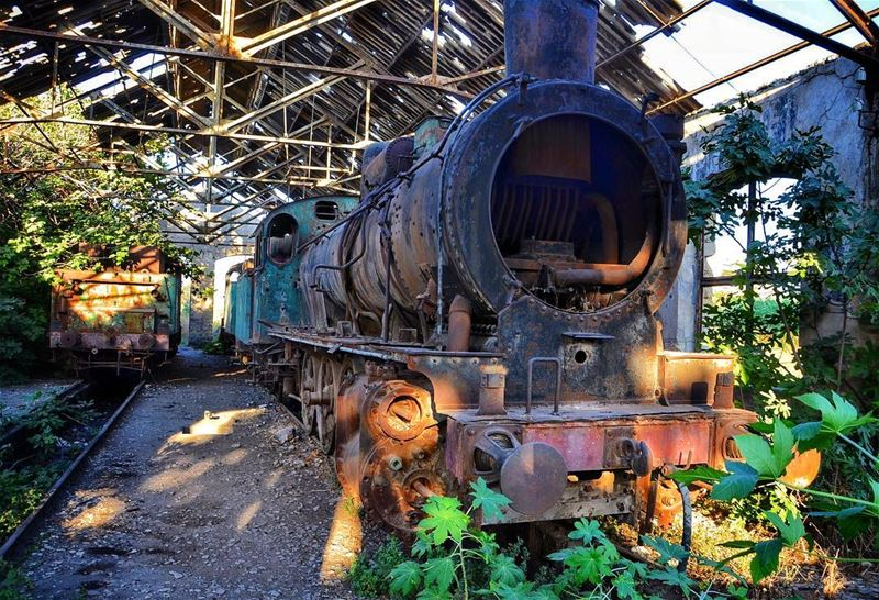 Long rides often lead to magnificent abandoned places! 🚂🏍 ... (Tripoli, Lebanon)