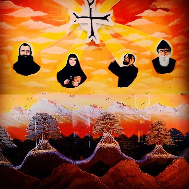 saintsoflebanon saveandprotectourlebanon blessourfamilies ... (Saint Charbel Baakafra)