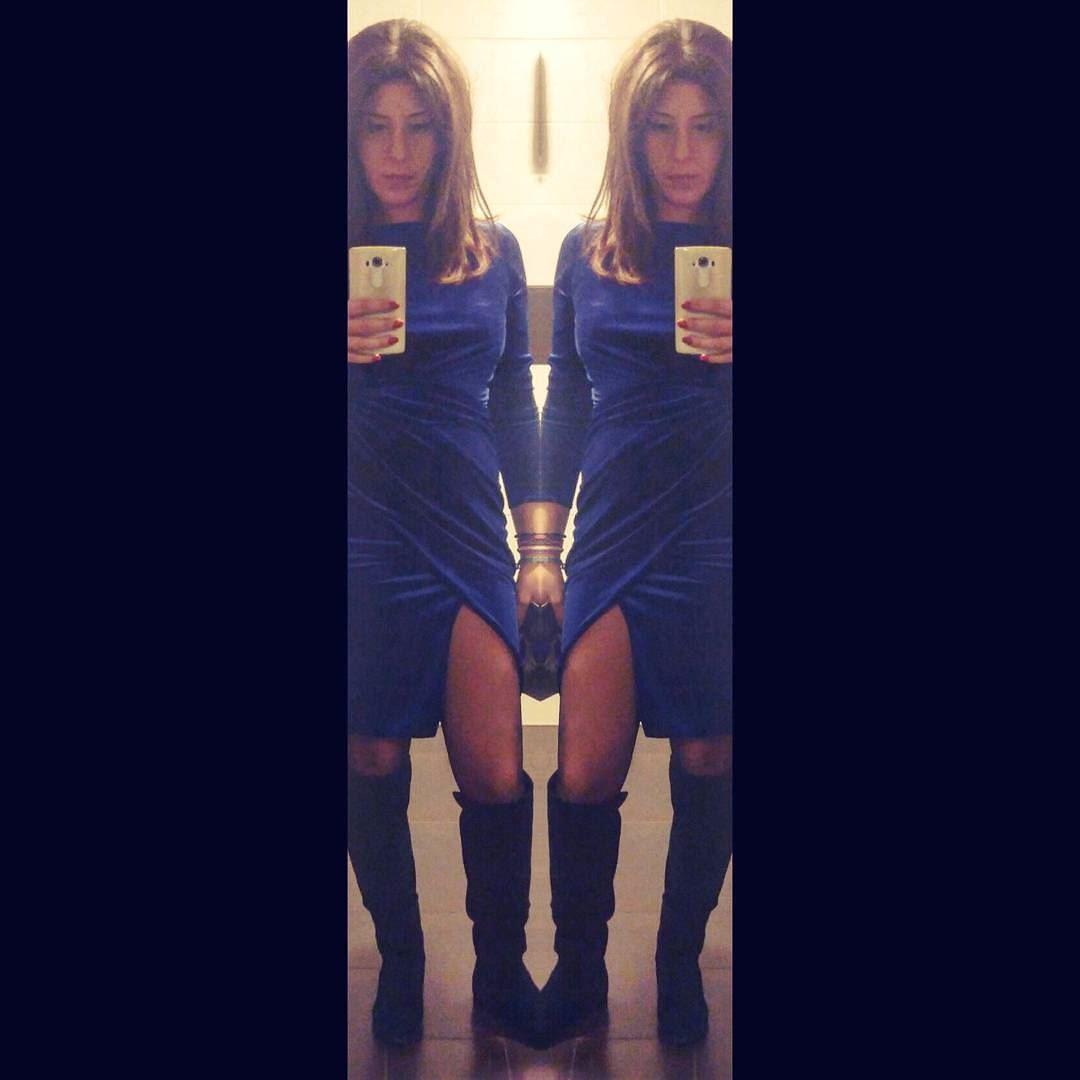 💁double trouble 👗@tiptopboutique dress blue royalblue velvet ...