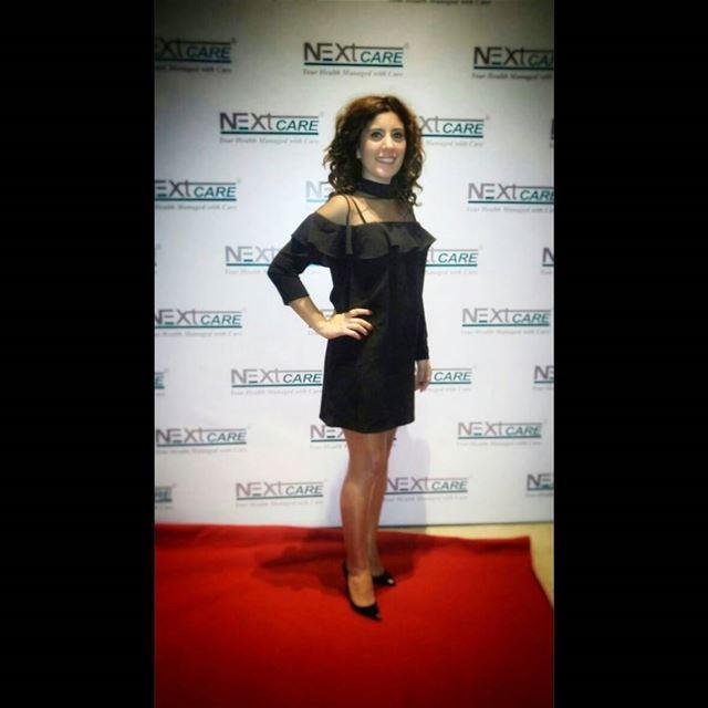 📷 @nisrine_maksoud 👗@tiptopboutique dress black ruffles highheels ... (Lancaster Plaza)