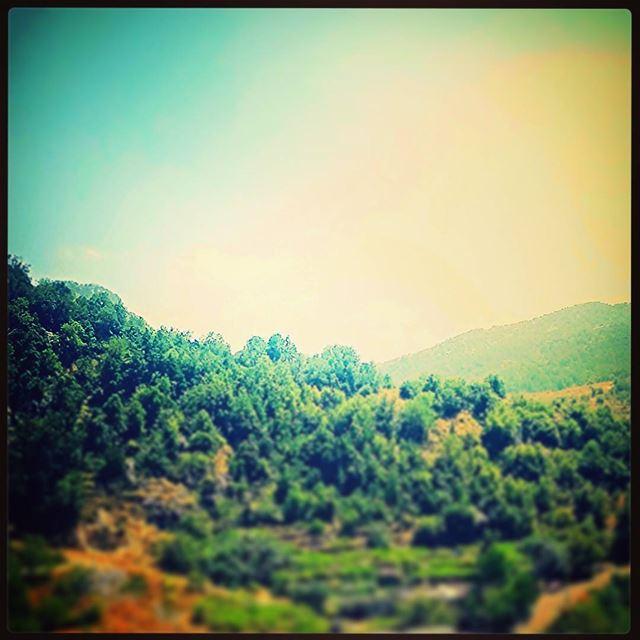 nature sky sun summer mountains breeze clouds light green colors... (Wata El Joz)