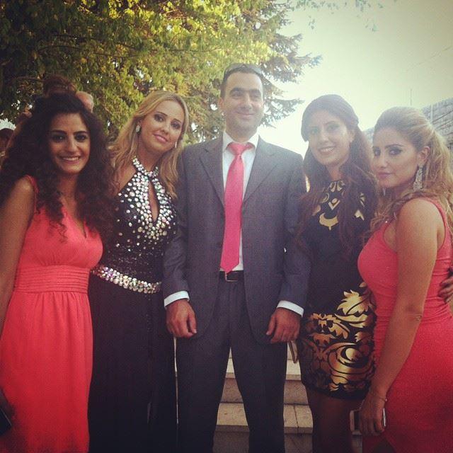 friends colleagues coral black wedding church mtein lebanon ...