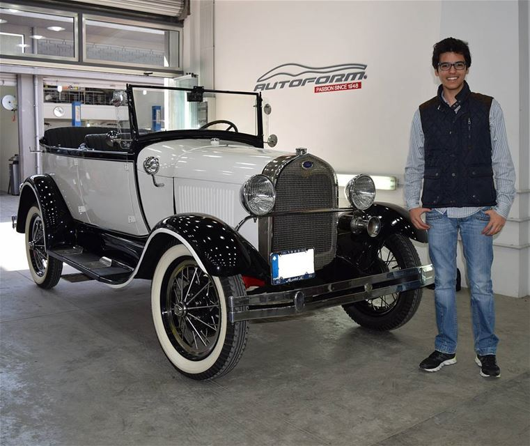 Next to this amazing 1928 Ford Model A at @Autoform.lb 👌Thank you @Sergio (Autoform)