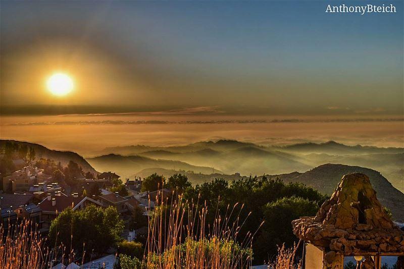 Sunset in Lebanon 🌅 (Faraya Mzaar)