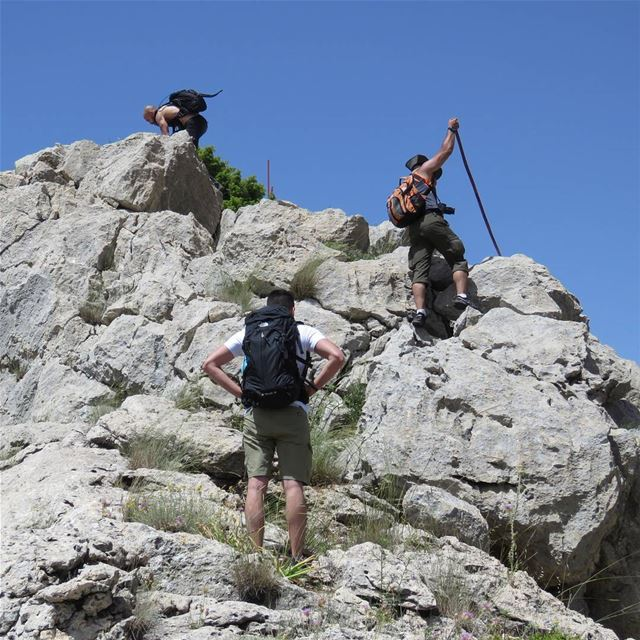 You can conquer anything. hiking travel blogger hike cliff sky ... (Tannourine)