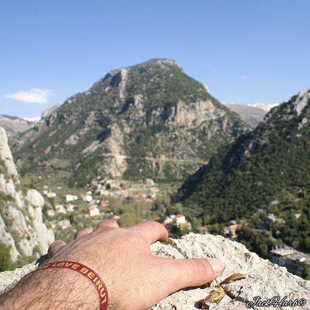 Can you reach the top ☝?. tannourine lebanon wearetannourine ... (Tannourine El Tahta)