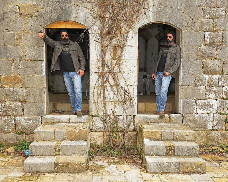 Double Trouble😋 me double doubletrouble lebanon lebanese bearded ...