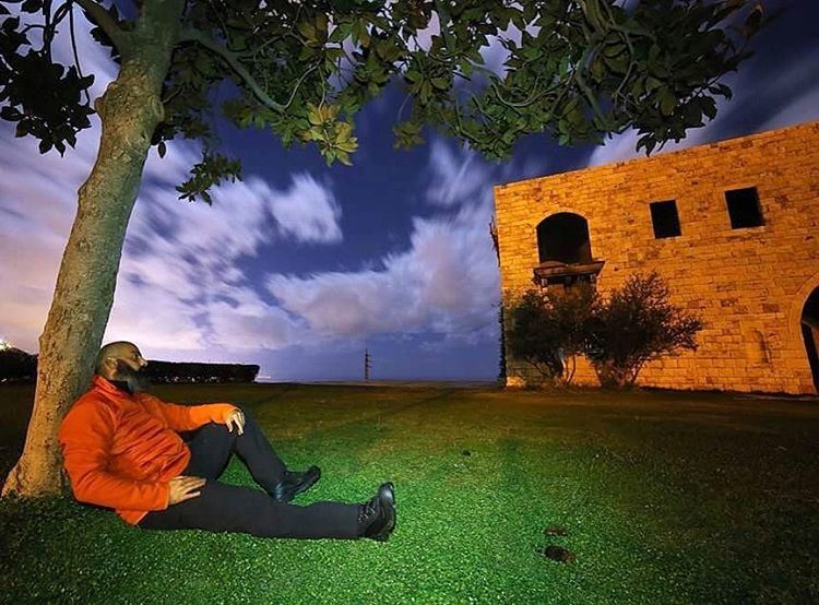 We're sitting under the tree of our thinking minds, wondering why we're... (Ghazir, Mont-Liban, Lebanon)