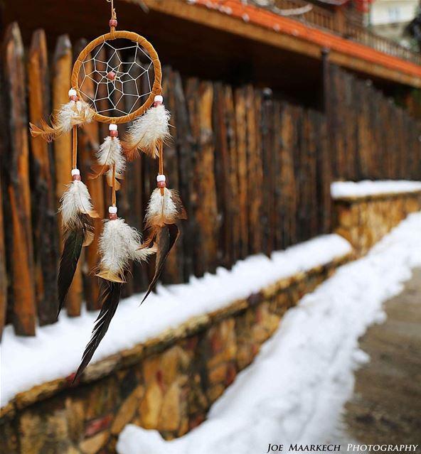 Make a Wish, Take a Chance, Make a Change... dreamcatcher snow faraya ... (Faraya, Mont-Liban, Lebanon)