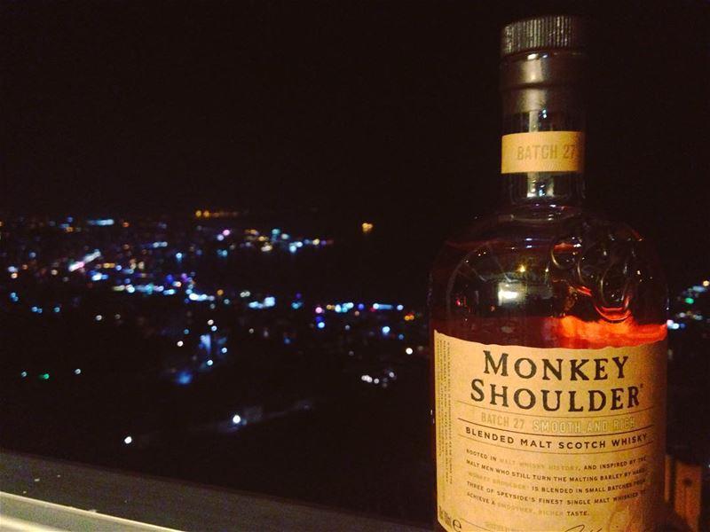 Monkey Shoulder and Jounieh from Ghazir... Cheers😊 monkeyshoulder ...