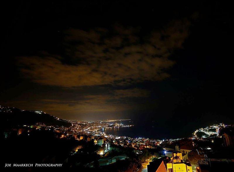 A big bird of clouds above Jounieh bay☺️ jounieh lebanon ghazir clouds...